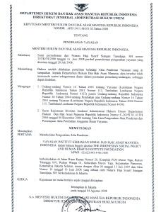 surat pengesahan kehakiman SOPHIE