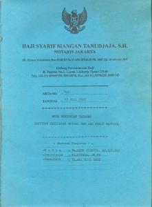 Akta Notaris SOPHIE0001